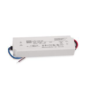 LED Trafo 24V 100W MW IP67 Mean Well LPV-100-24 SNT 24V/DC/0-4,2A/ 100W IP67