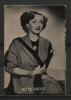 Bette Davis Vintage Movie Film Star Trading Photo Card