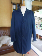 TRENCH IMPERMEABLE BLEU MARINE HOMME T56/58 XL VINTAGE 60 MAN RAINCOAT TRENCH
