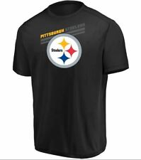 Pittsburgh Steelers Men's Prograde Tee Majestic by Fanatics Branded Black Small