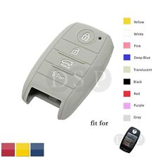Silicone Cover fit for HYUNDAI KIA Smart Remote Key Case 4 BTN Hollowed 9104PK