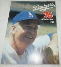 ☆ 1976 Los Angeles DODGERS Program Magazine Book Scorecard Walter Alston cover!