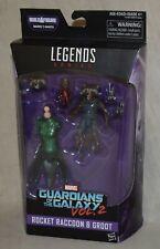 Marvel Legends Rocket Raccoon & Groot Guardians of the Galaxy Vol. 2  NEW Hasbro
