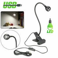 USB Flexible Reading LED Light Clip-on Beside Bed Desk Table Lamp Book Lamp BK