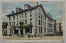 Hotel Zimmerman Greensburg PA Postcard Postmarked 1920 in Harpers Ferry WV