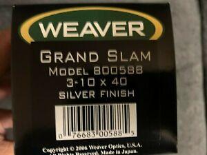 Weaver Grand Slam 3-10x40 Silver Finish