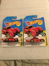 Hot Wheels (2) 2017 56/365 Speed Graphics Red Volkswagen Kafer Racer C/D CaseB77