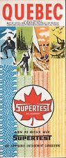 1965 Supertest Road Map: Quebec NOS