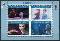Chad Disney Stamps 2019 CTO Frozen 2 Elsa Olaf Cartoons Animation 4v M/S I