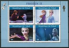 Chad Disney Stamps 2019 CTO Frozen 2 Elsa Olaf Cartoons Animation 4v M/S I