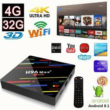 H96MAX+ 4+32G Android 8.1 Quad Core 4K Smart TV BOX WIFI RK3328 Media Player NEW