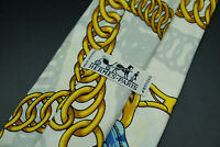 Vintage Hermes Paris Made In France Scarf Print Silk Tie