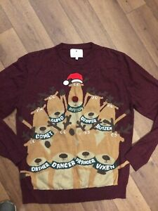 Mens Christmas Jumper Size L From Next