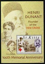 B173 ST. KITTS 2010 Henri Durant founder, Red Cross Mint NH