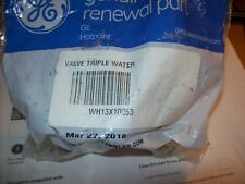 GE PARTS WATER INLET VALVE PART NUMBER - WH13X10053 NEW IN OPEN BAG
