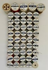 More details for job lot of 50 x vintage plastic sylko cotton reels with mixed colours thread