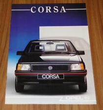 Catalogue OPEL CORSA A de 1988