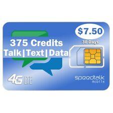 SpeedTalk Mobile $7.5 Sim Card Kit 2₵ Talk Text Data 5G 4G Lte 30-Day Phone Plan