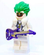A1337 Lego CUSTOM PRINTED Batman Lego Movie INSPIRED ROCK STAR JOKER MINIFIG