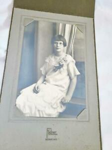 Vintage Girl w Glass Photograph Fadner Neenah Wisconsin 4x6 Inch