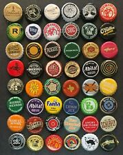 48 beer & soda bottle caps: no repeats, some craft microbrew & rare (48B)