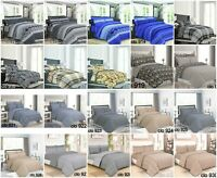 100% Cotton Complete Bed Set, Duvet Set with Fitted Sheet + 2 pillow Cases.