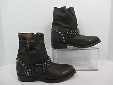 Ash VICIOUS Studded Strap & Heel Leather Motorcycle Boots Sz US 6-6.5 EU 36.5
