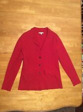 BANANA REPUBLIC Red Sweater Shirt TOP Jacket Cotton Polyester Wool Spandex M