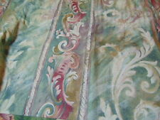 JC PENNEY  CURTAIN VALANCE MUSTIQUE GREEN PINK MAUVE