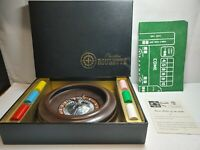 Vintage Pleasantime Professional Roulette Wheel Box Felt Ball Instructions Chips