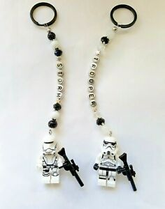 Personalised  Star Wars Storm Trooper keyring / bag charm (you chose the name ),
