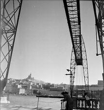 MARSEILLE c.1938 -Pont Transbordeur Basilique Provence- Négatif 6 x 6 - PROV 115