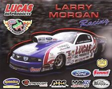 2013 Larry Morgan Lucas Oil Ford Mustang Pro Stock NHRA postcard