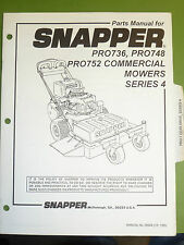 SNAPPER PRO736 & PRO748 PRO752 SERIES 4 COMMERCIAL MOWERS MANUAL # 06924