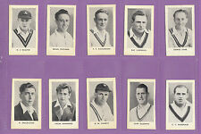 D.C. THOMSON (HOTSPUR) - SET OF 18  WORLD'S  BEST  CRICKETERS  CARDS  -  1956