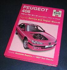 1996-97 PEUGEOT 406 PETROL+DIESEL MODELS HAYNES WORKSHOP MANUAL  3394