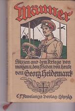 MÄNNER - Skizzen aus dem Krieg - Georg Heidemarck  -  BUCH von 1913