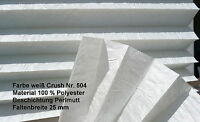 Plissee Maßanfertigung Breite 80 cm x Höhe 230 cm Farbe 504 Crush weiß