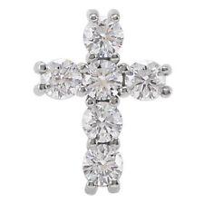Cruz Diamante 45.7cm Collar en 14k ORO BLANCO ( 1/2 Ct. TW