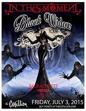 """IN THIS MOMENT """"BLACK WIDOW TOUR"""" 2015 WICHITA CONCERT POSTER - Metalcore Music"""
