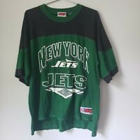 Vintage 90s New York Jets Jersey T Shirt Mens Large The Edge NFL Football VTG