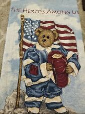 New listing Boyds Bears Tapestry Blanket *The Heroes Among Us* Firefighter, #4120/10000, Nwt