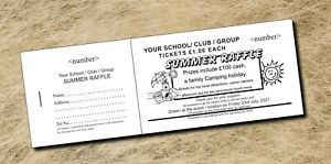500 Raffle Tickets - fundraising - Prize Draw Tickets - Books of 5