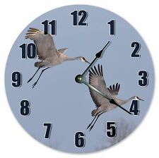 "10.5"" SANDHILL CRANE BIRDS CLOCK Large 10.5"" Wall Clock Home Décor Clock - 3116"