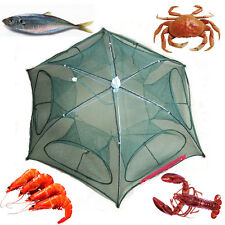 Foldable Fishing Net Fish Dip Cage Shrimp Minnow Crab Baits Cast Mesh Trap New