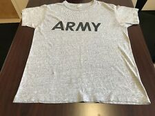 VTG 80's ARMY Crewneck T Shirt Champion 50/50 Soft Heather Gray Grey Medium USA