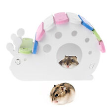 Snail Shape Wood Hamster House Gerbils Rat Mouse Exercise Sleeping Nest Toy