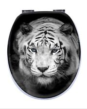 Tiger 3d Toilet Seat Chrome Soft Closing Hinges