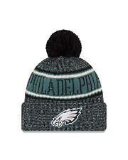 Philadelphia Eagles New Era Rev Black 2018 NFL Sideline Official Sport Knit Hat