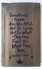 Markus Zusak Quote Wood Wall Plaque With Hanger Original Art Recycled Wood